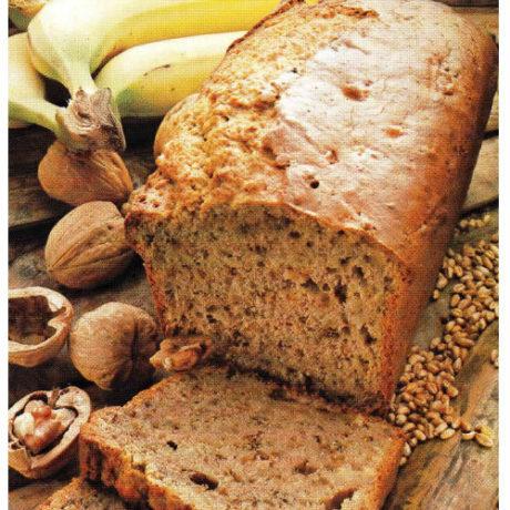 Kruh s orasima i bananama