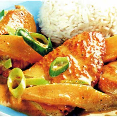 Odrezak s curryjem i mangom