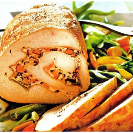 Rolana pečenka nadjevena sirom i gljivama