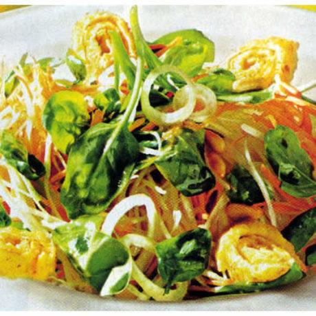 Salata od špinata s valjušcima
