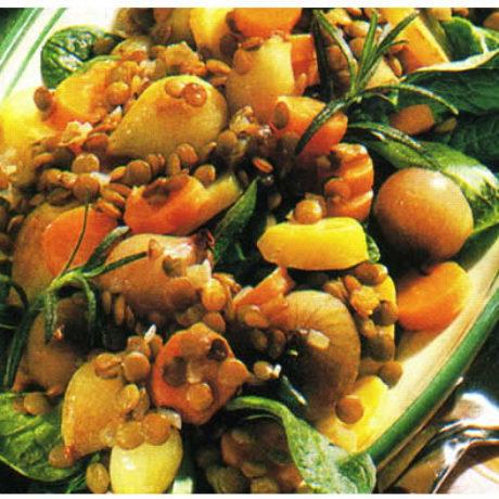Salata od leće i krumpira