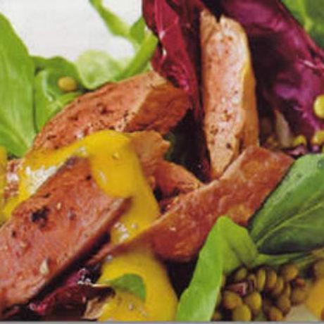 Salata od radića i leće s mesom