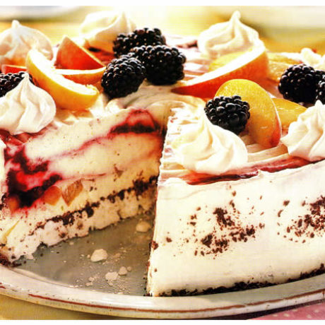 Sladoledna torta od kupina