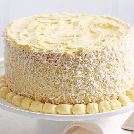Torta s kokosom i bijelom čokoladom