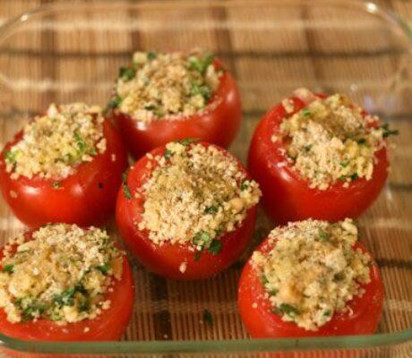 Zapečene rajčice s kus-kusom